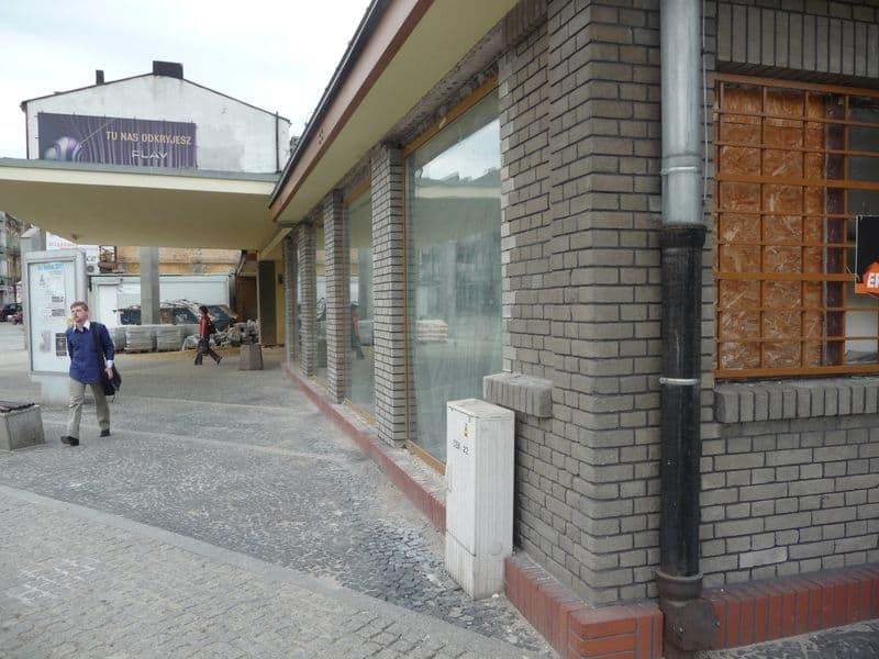 tafle szkła od frontu