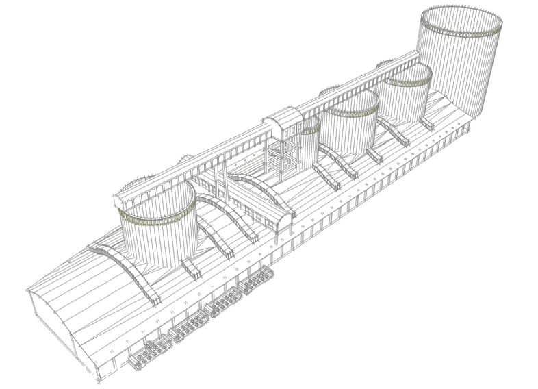 Pakownia z silosami